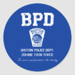 Boston Police Department Zombie Task Force Stickers