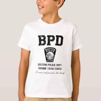 Boston Police Department Zombie Task Force T-Shirt