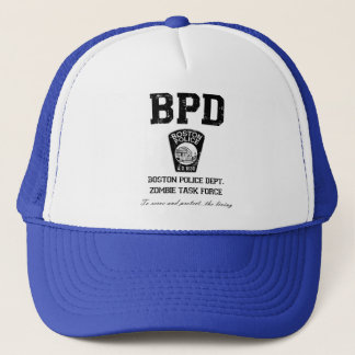 Boston Police Department Zombie Task Force Trucker Hat