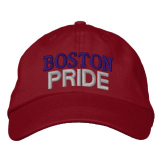 Boston pride embroidered baseball cap