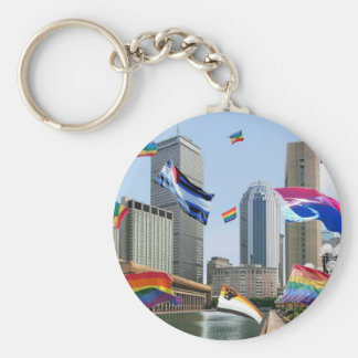 Boston Pride Keychain