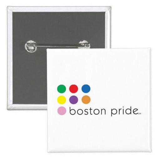 Boston Pride Square 2 Inch Square Button