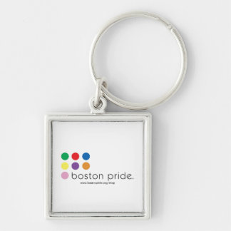 Boston Pride Square Keychain