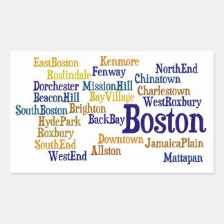 Boston Pride Rectangular Stickers
