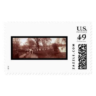 Boston Public Garden Photo 1904 Postage Stamp