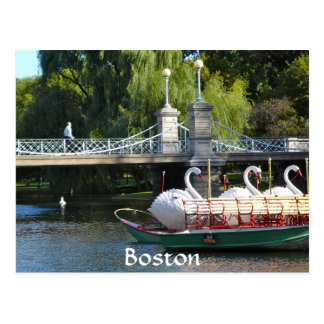 Boston Public Garden Postcard