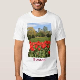 Boston Public Garden Tulips in Spring T-shirt