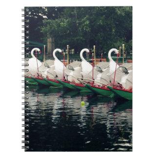 Boston Public Gardens Swan Boats Notebook