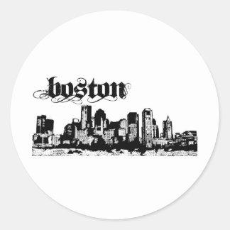 Boston puso para su ciudad pegatina redonda