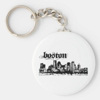 Boston Put on for your city Basic Round Button Keychain