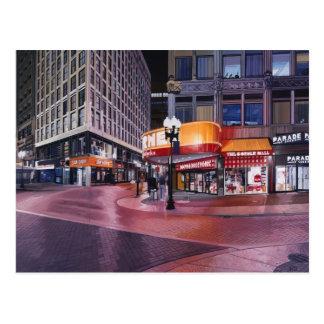 Boston que cruza céntrica tarjeta postal