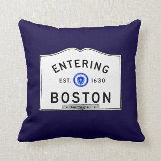Boston que entra cojín