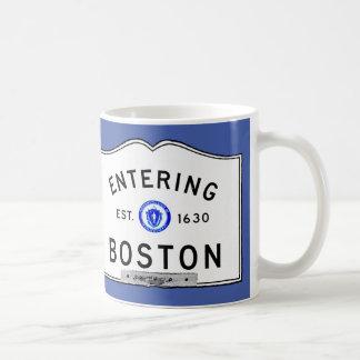 Boston que entra taza básica blanca