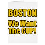 ¡Boston - queremos la taza! Felicitación