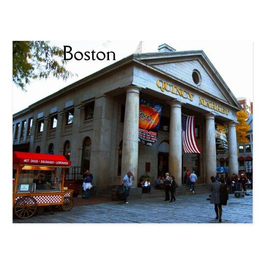 Boston Quincy Market Postcard