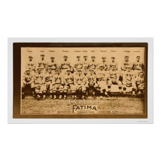 Boston Red Sox Baseball 1913 Poster