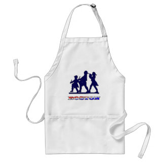 Boston Red White and Blue Adult Apron