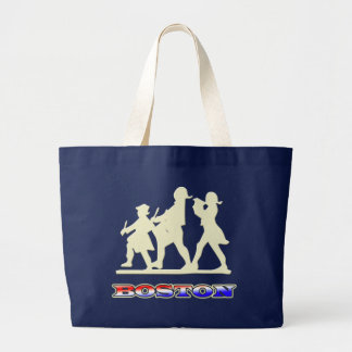 Boston Red White and Blue Canvas Bag