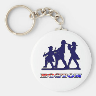 Boston Red White and Blue Key Chain