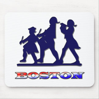 Boston Red White and Blue Mouse Pad