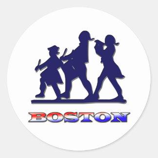 Boston Red White and Blue Classic Round Sticker