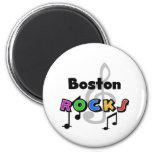 Boston Rocks 2 Inch Round Magnet