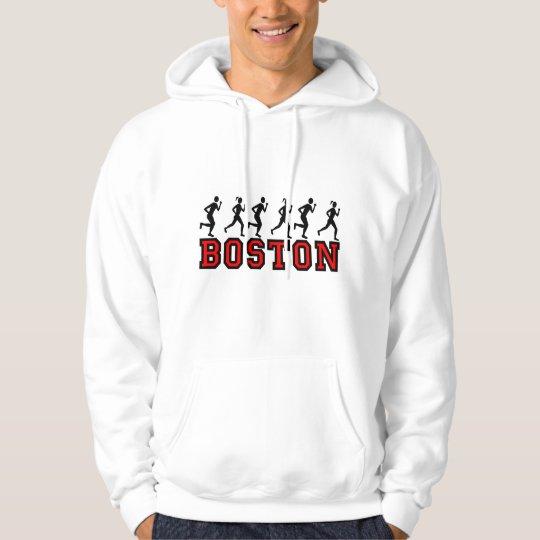 Boston running hoodie