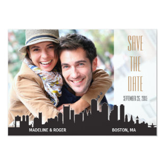 Boston Save the Date City Series Card