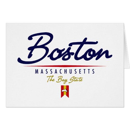 Boston Script Card