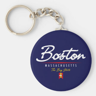Boston Script Keychain