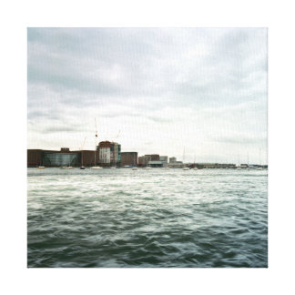 Boston Seafront Gallery Wrapped Canvas