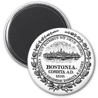 Boston Seal 2 Inch Round Magnet