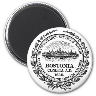 Boston Seal 2 Inch Round Magnet