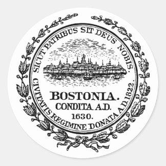 Boston Seal Classic Round Sticker