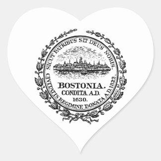 Boston Seal Heart Sticker