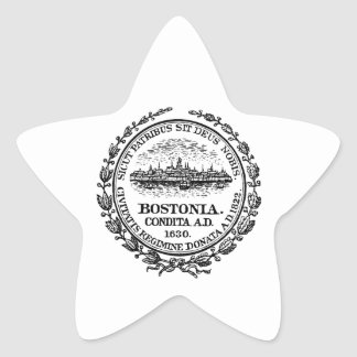 Boston Seal Star Sticker