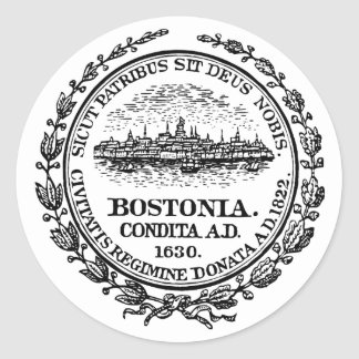 Boston Seal Classic Round Sticker