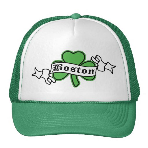 Boston Shamrock Mesh Hats