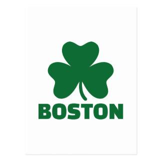 Boston shamrock postcard