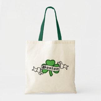 Boston Shamrock Tote Bag