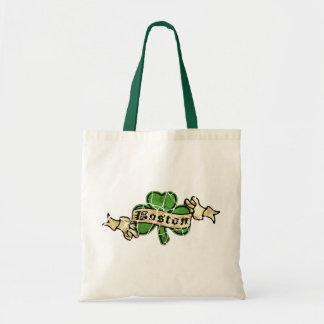 Boston Shamrock Vintage Style Tote Bag