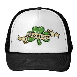 Boston Shamrock Vintage Style Trucker Hat