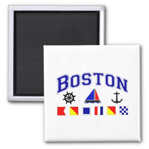 Boston Signal Flags Magnets