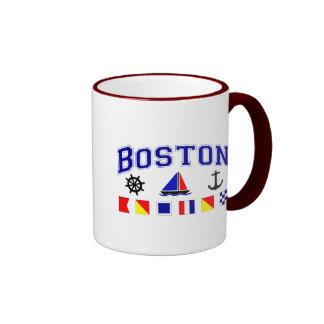 Boston Signal Flags Ringer Mug