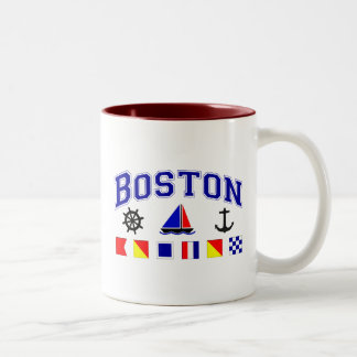 Boston Signal Flags Two-Tone Coffee Mug