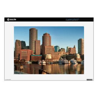"Boston skyline 15"" laptop skins"