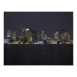 Boston Skyline 4.25x5.5 Paper Invitation Card