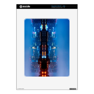 Boston skyline and fog decal for iPad