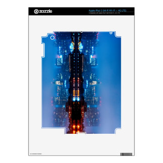 Boston skyline and fog iPad 3 skin