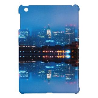Boston skyline and fog iPad mini cover